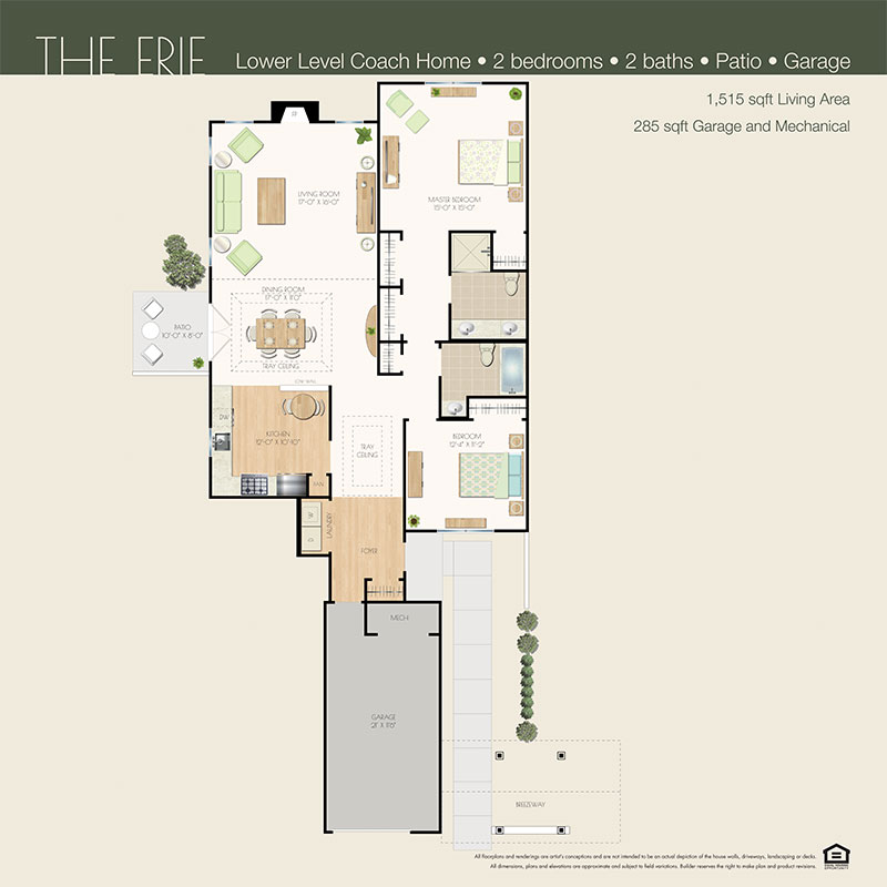 erie floor plan willow wood